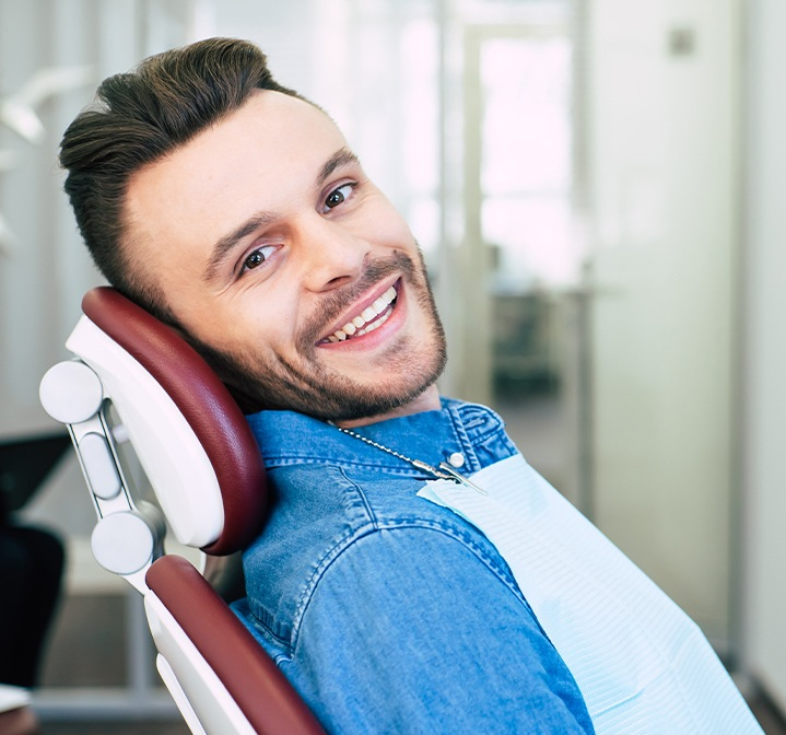 Man sharing smile after root canal therapy